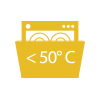 You can go to the Washing Machine up to <50º